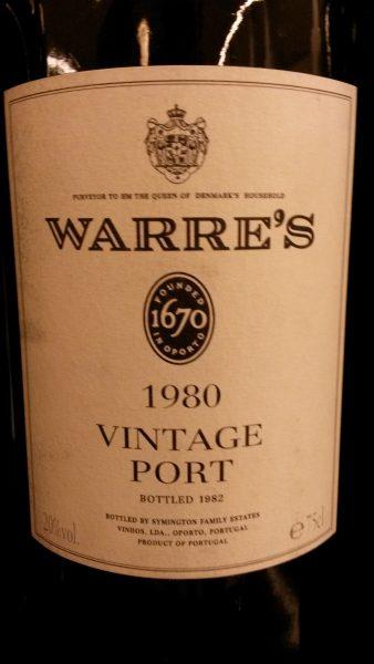 warre vintage 1980